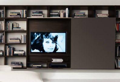 focus frame TV unit book shelves