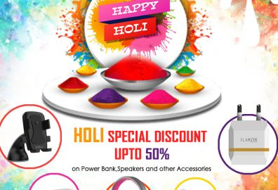 Beat the Holi drum with Slanzer Technology, the renowned Gadget accessory brand.