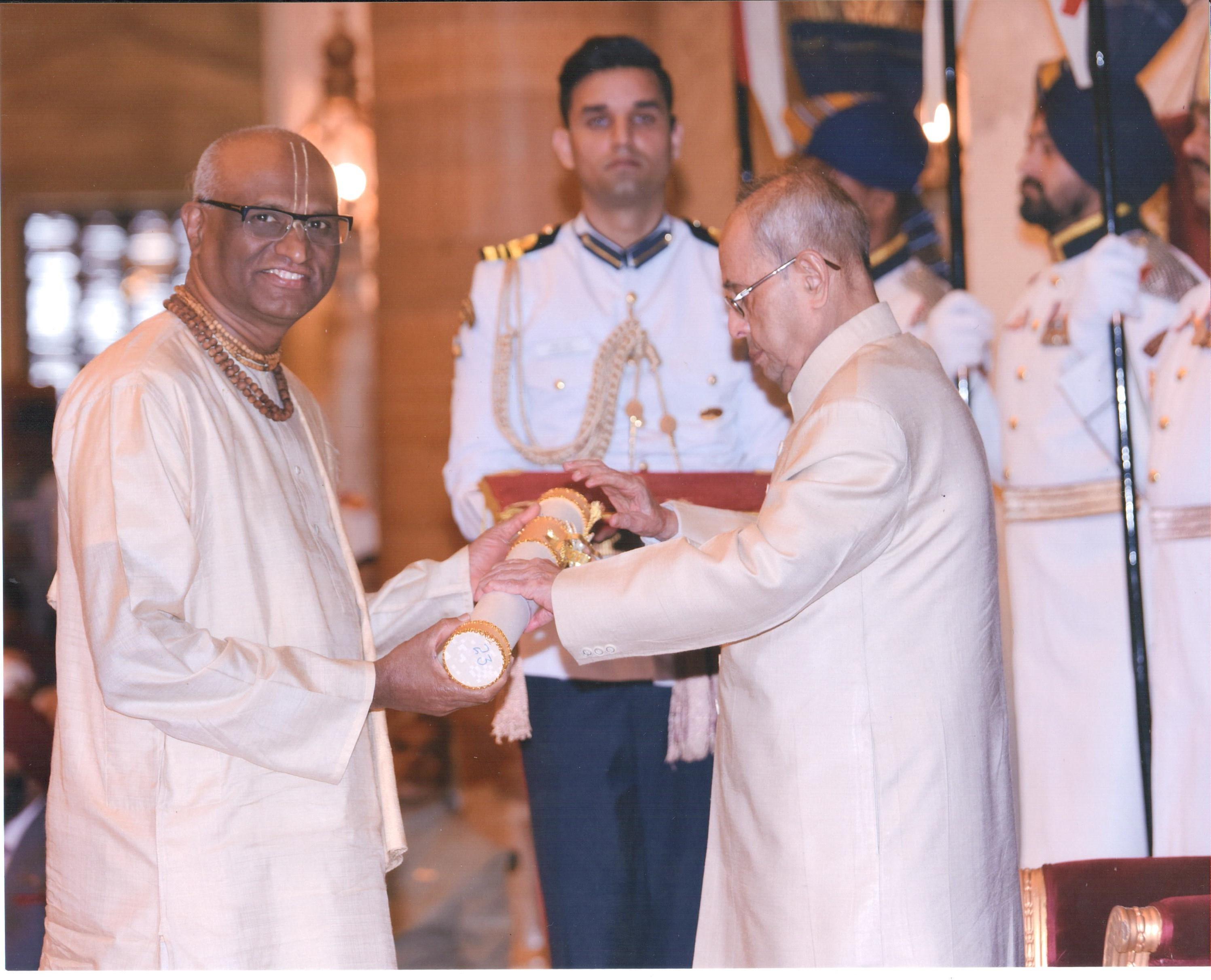 Madhu Pandit Dasa Bagged Padma Shri Award