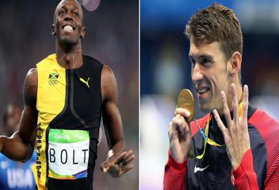 Usain Bolt, Michael Phelps, Rio Olympics