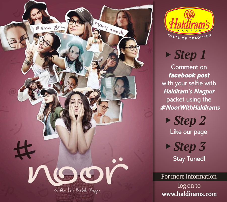 Haldirams, Haldirams Nagpur, Haldirams Nagpur Reviews, Haldirams Contest, Noor With Haldirams, Noor Movie Contest