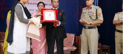 Balbir Singh Tomar; Nims Chairman felicitates the Martyrs families