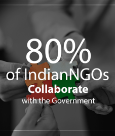 80% of Indian NGOs Collaborate with the Government