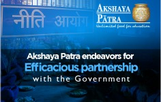 Akshaya Patra endeavors for efficacious partnership with the Government