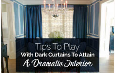 Tips To Play With Dark Curtains To Attain A Dramatic Interior
