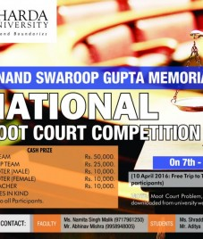 Sharda University organizes Anand Swaroop Gupta Memorial National Moot Court Competition