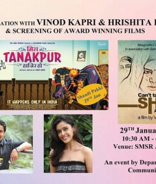 Sharda University screened award winning movies of Vinod Kapri at its Department of Mass Communication