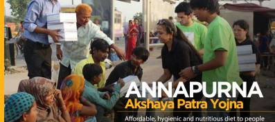 Healthy food available at Rs. 10 for Poor offered by Annapurna Akshaya Patra Yojana.