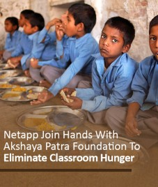 Netapp Join Hands With Akshaya Patra Foundation To Eliminate Classroom Hunger