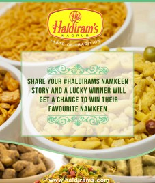 Share your Namkeen story and stand a chance to win exclusive Namkeen hamper by Haldirams